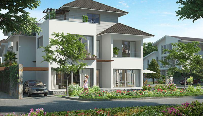 Bán biệt thự Vườn Đào, 195 m2, hướng Tây.